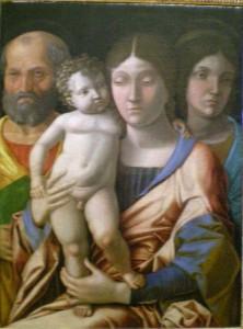 Andrea Mantegna, Sacra Famiglia e una Santa
