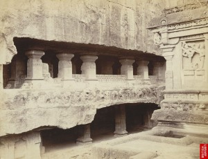 -Façade_of_the_Lankeshvara_Shrine_from_the_terrace,_Kailasanatha_Cave_Temple_(Cave_XVI),_Ellora.,_by_Jo._Johnston,_c.1874-