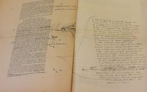 Carte a stampa, molto lavorate, con numerose correzioni manoscritte. Foto Stefania Sepulcri – Sapienza -ufficio stampa e comunicazione