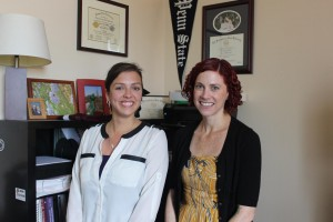 Samantha Yaussy e Sharon DeWitte. Credit: University of South Carolina