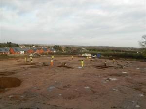 Il sito durante gli scavi. Credit: University of Leicester