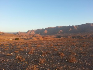 Le montagne aride nella Richtersveld Community Conservancy, in Sud Africa. Credit: Brenna Henn