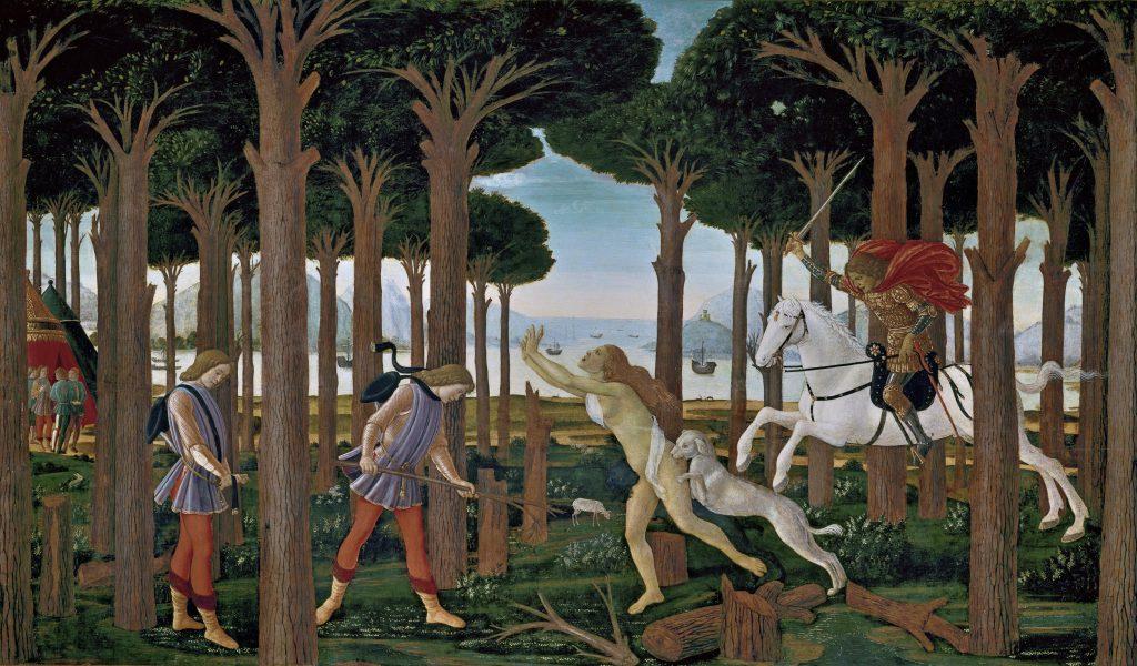 Boccaccio Sandro Botticelli Nastagio degli Onesti Museo del Prado Madrid