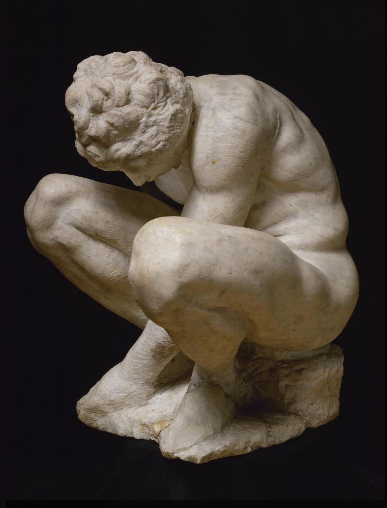 Michelangelo Buonarroti L'adolescente (Ragazzo accosciato) Ermitage San Pietroburgo