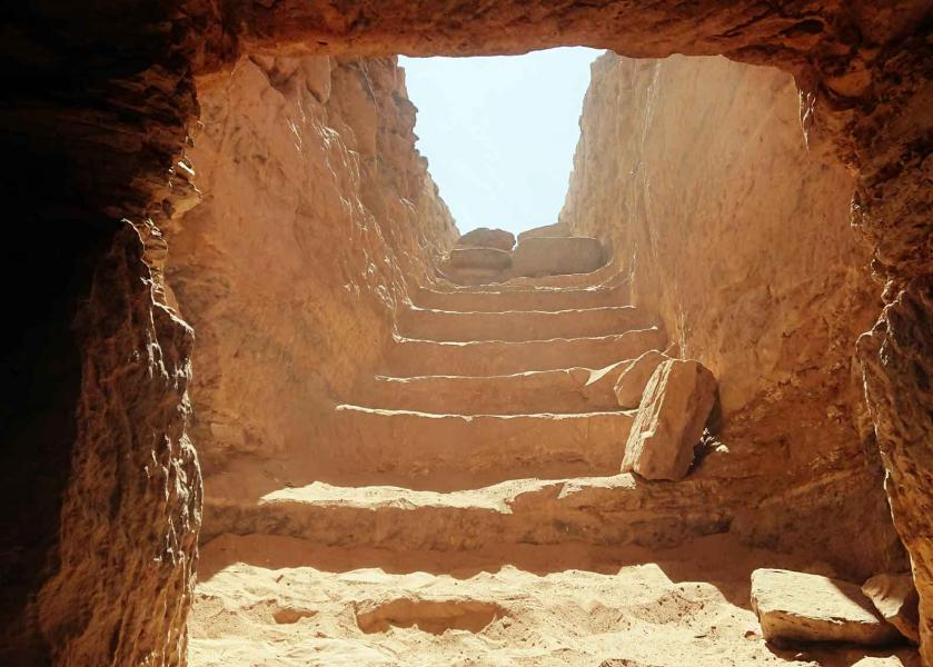Assuan necropoli tomba mausoleo di Aga Khan Egitto Tjt