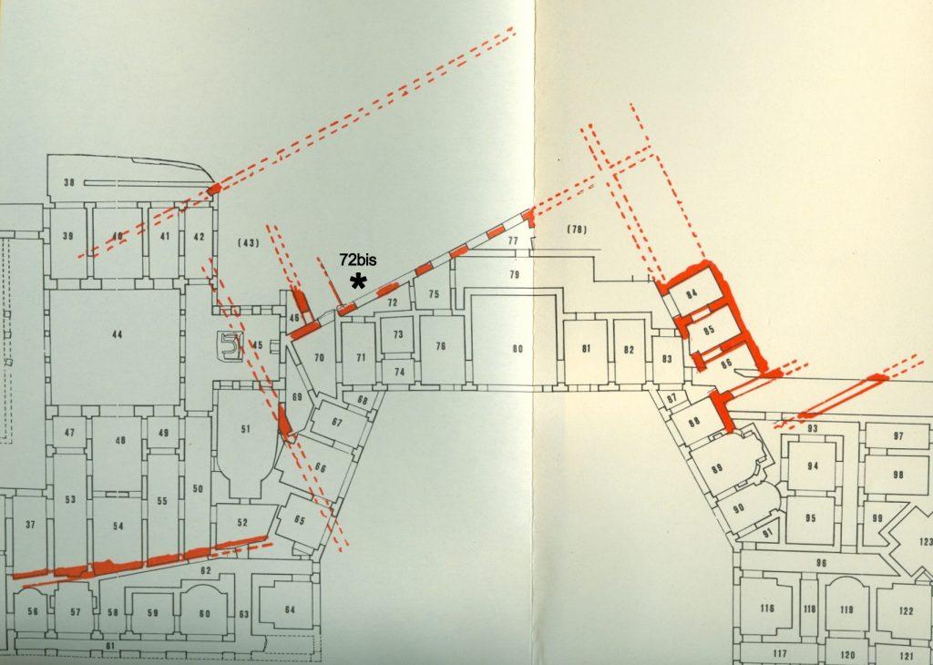 Posizionamento su planimetria della nuova sala della Sfinge. Crediti: Parco archeologico del Colosseo