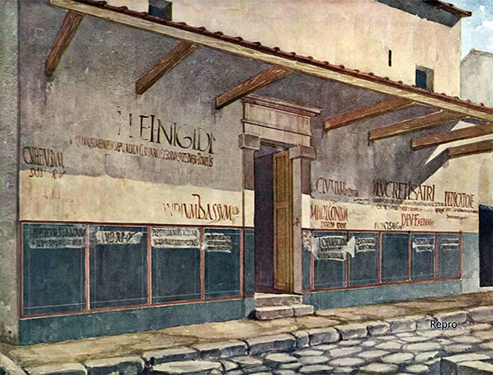 Iscrizioni in via dell'Abbondanza, Pompei. See page for author [Public domain]
