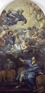 Pietro da Cortona, Daniele nella fossa dei leoni, 1660 ca, tela, cm 440 x 223