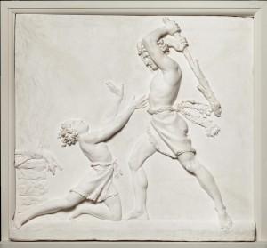 Antonio Canova, Caino e Abele, 1822 ca, bassorilievo in gesso, cm 110 x 105