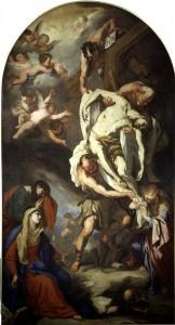 Luca Giordano, La Deposizione, 1660 ca, tela, cm 440 x 243