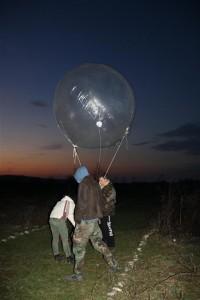 Esperiment con un pallone ad elio. Fonte: Project Tibiscum