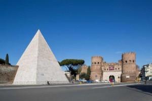 Piramide Cestia restyling in Rome