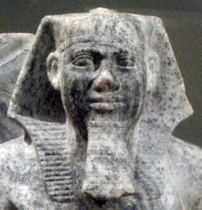 SahureAndNomeGod-CloseUpOfSahure_MetropolitanMuseum