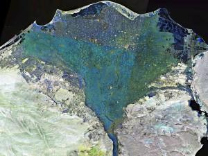 800px-Nile_delta_landsat_false_color