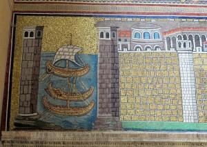 800px-Ravenna,_sant'apollinare_nuovo,_int.,_porto_di_classe,_epoca_di_teodorico_01