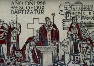 Baptism_of_Poland.Mural_in_Gniezno