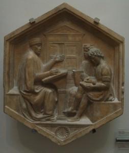 800px-Formella_20,_prisciano_o_la_grammatica,_luca_della_robbia,_1437-1439