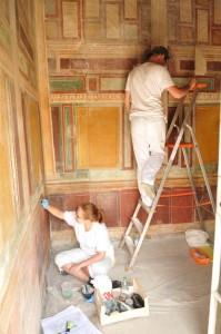 Restauratori polacchi al lavoro a Stabiae. Foto di J. Burdajewicz