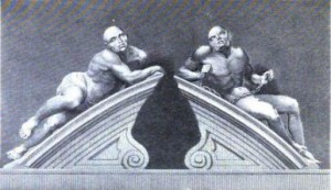 Melancholia_and_Mania_by_Caius_Gabriel_Cibber_c._1676._Engraving_by_C._Warren_n.d.