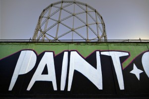 26/08/2013 Roma. Quartiere Ostiense. Graffiti in via dei Magazzini Generali