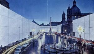 Superstudio Il Monumento Continuo Piazza Navona 1970 (courtesy pinksummer)