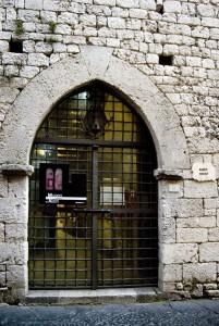 L'ingresso del Museo Civico di Alatri La Porta