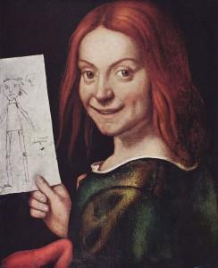 Giovanni Francesco Caroto, Ritratto di fanciullo con disegno