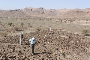 Al-Ayn, rilevamenti su una collina prospiciente il villaggio