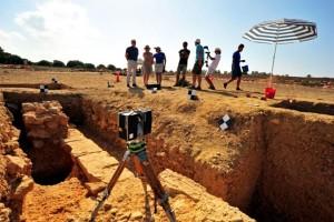 Scansione di uno degli scavi. Foto di Robert Słaboński