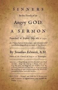 """""""Sinners"""" (Peccatori) - scansione della prima pagina del più famoso sermone di Edwards, pubblicato nel 1471 nelle colonie americane. Fonte: materiali di ricerca di M.Choiński e J.Rybicki"""