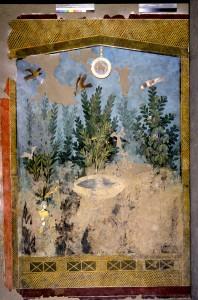 """""""Il Nilo a Pompei"""" Affresco dalla Casa del Bracciale d'Oro Intonaco dipinto Soprintendenza Pompei, depositi"""