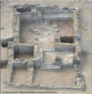 Modello 3D dell'edificio principale a Mudhmar Est (la stanza dove si sono ritrovate le armi è nel mezzo dell'edificio sulla sinistra)