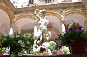 Fontana del Tritone - Chiostro Museo Salinas