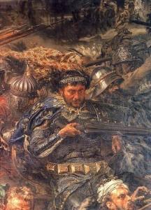 """Zawisza Czarny in un dettaglio della """"Battaglia di Grunwald"""", di Jan Matejko. Fonte: Wikipedia"""