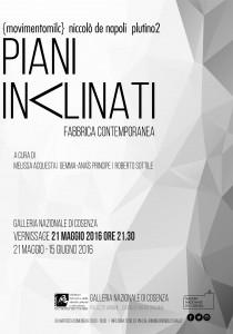 Galleria Nazionale di Cosenza - Notte Europea dei Musei - Piani inclinati -