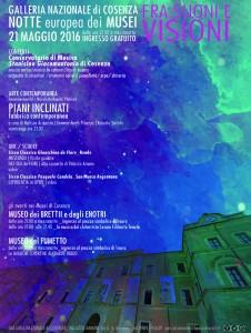 Galleria Nazionale di Cosenza - Notte Europea dei musei 2016 - Fra suoni e visioni -