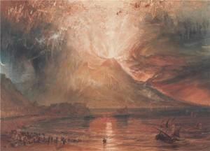 L'eruzione del Vesuvio dalla Baia di Napoli, nel dipinto di William Turner. © Yale Center for British Art, Collection Paul Mellon.