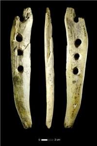 Avorio di mammuth di 40 mila anni fa da Hohle Fels. Photo: Copyright University of Tübingen