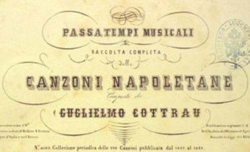 Guillaume Cottrau canzone napoletana passatempi musicali Biblioteca Nazionale di Napoli