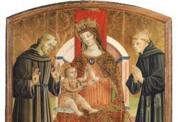 Stefano Folchetti Madonna in trono con Bambino, san Francesco e il beato Liberato da Loro Piceno San Ginesio Pinacoteca
