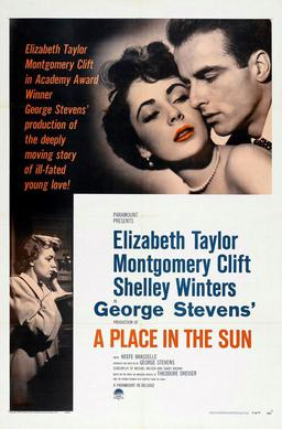 Un posto al sole Elizabeth Taylor Montgomery Clift Shelley Winters George Stevens A place in the sun cinema
