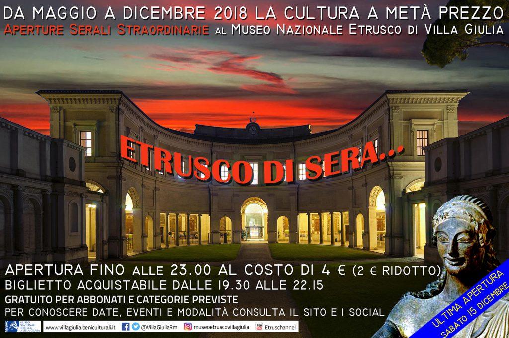 Roma Etrusco di Sera Museo Nazionale Etrusco di Villa Giulia