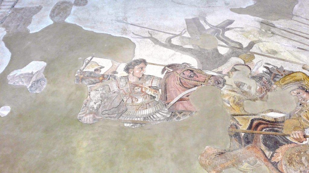 Battaglia di Isso. Mosaico proveniente dalla Casa del Fauno di Pompei. Foto: Alessandra Randazzo