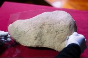 Paleolithic rock art Montsant valley Spain Hort de la Bequera
