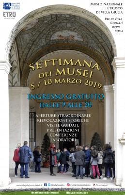 Museo Nazionale Etrusco di Villa Giulia Settimana dei Musei 2019