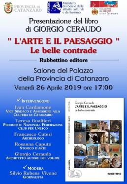 Giorgio Ceraudo L'arte e il paesaggio Catanzaro