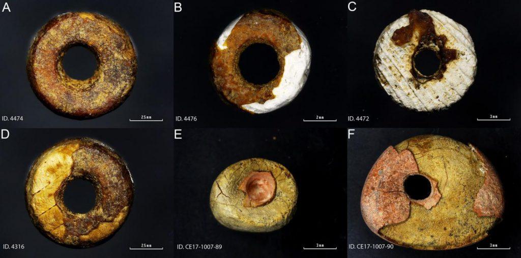 imitation amber beads pine resin Iberian peninsula