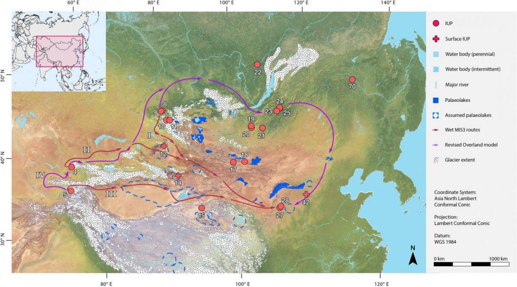 Eastern Asia Central Homo Sapiens migrations