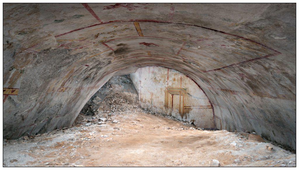 Vista d'insieme della Sala della Sfinge. Crediti: Parco archeologico del Colosseo