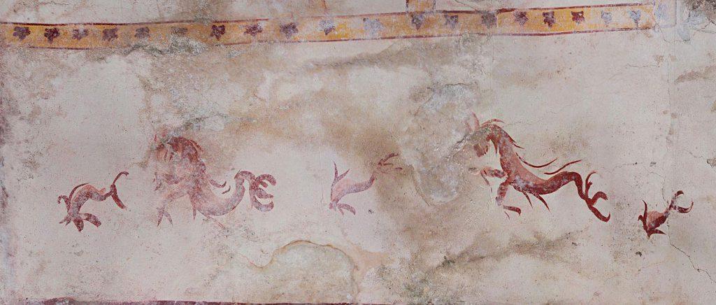 Creature acquatiche dalla Sala della Sfinge. Crediti: Parco archeologico del Colosseo